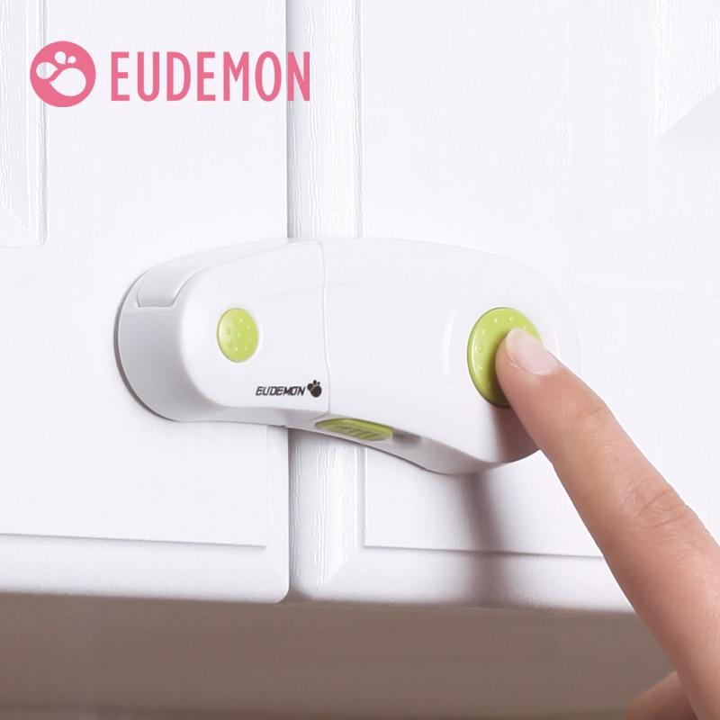EUDEMON Cabinet Lock Drawer Cupboard Refrigerator Door Desk Plastic Locks Protection From Children Baby Child Safety Lock