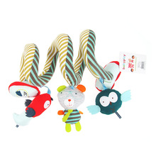 Купить с кэшбэком Cute Baby Rattles Infant Babyplay Baby Toys Activity Spiral Bed & Stroller Toy Set Hanging Bell Crib Rattle Toys For Baby