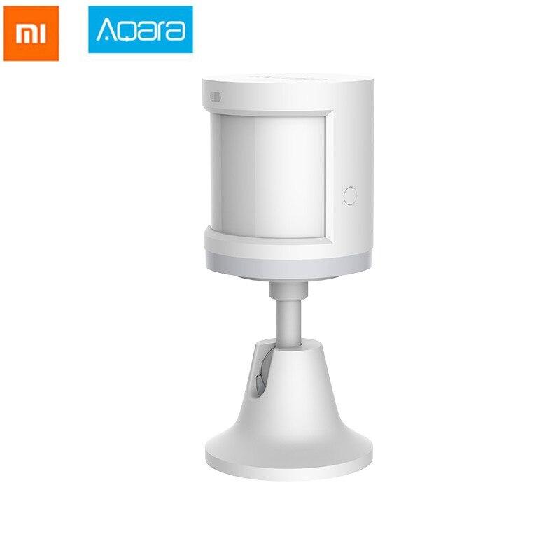 Envío gratuito 2018 Xiaomi Aqara Sensor de movimiento de cuerpo humano cuerpo inteligente Sensor de movimiento Zigbee conexión Mihome aplicación a través de Android e IOS