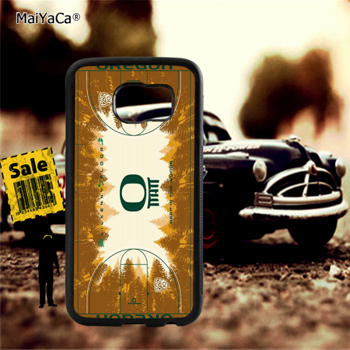 basketball court soft TPU edge cellphone cases for samsung s6 edge plus s7 edge s8 s9 s10 plus lite e note8 note9 cover case in Half wrapped Cases from Cellphones Telecommunications