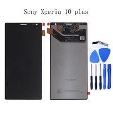 """원래 6.5 """"소니 xperia 10 플러스 lcd 디스플레이 터치 스크린 디지타이저 구성 요소 어셈블리 소니 xperia 10 플러스 전화 부품"""