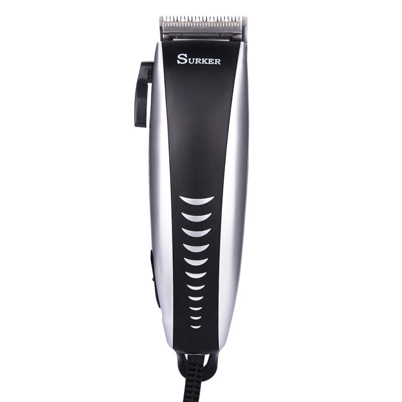 Professional Trimmer Low Noise Hair Clipper Super Power Cutter Haircut Machine for Men with Adjustable Blades and Limit Combs kemei km 1027 professional adjustable 4 in 1 electric hair clipper haircut trimmer maquina with combs ac220 240v for men
