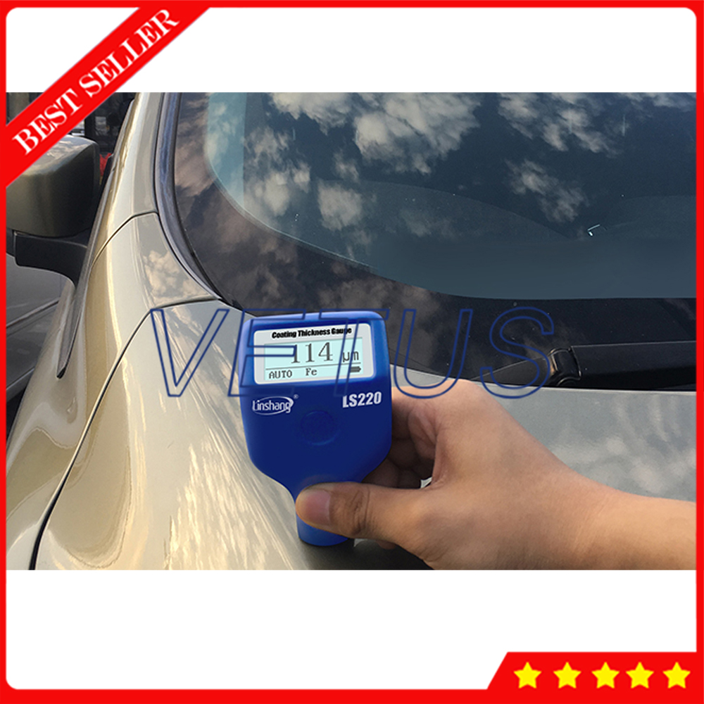 Digital Coating Thickness Gauge With Fe NFe Measuring principle 0 to 2000um Range Portable Thickness Tester