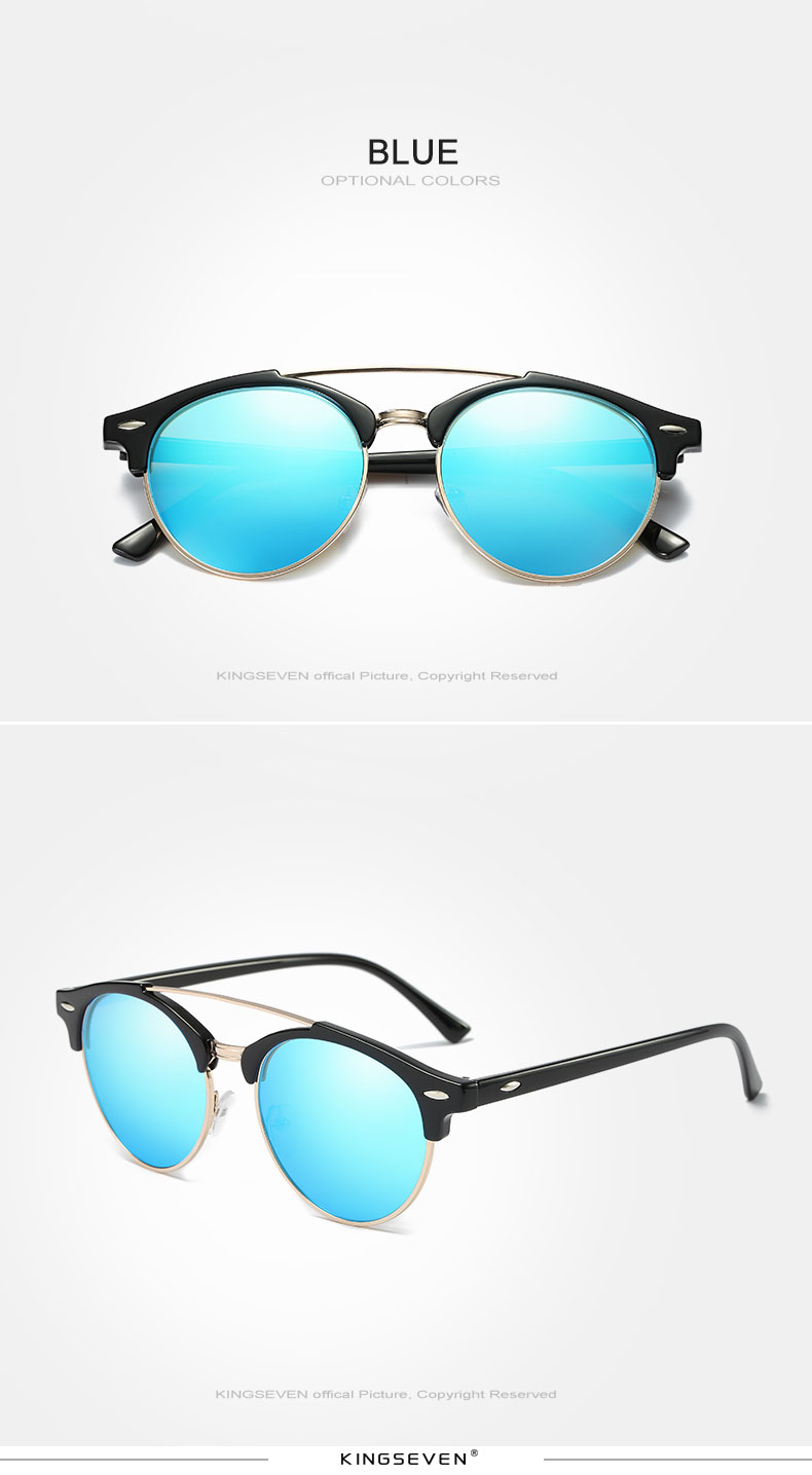 17 KINGSEVEN Retro Rivet Polarized Sunglasses Women Classic Brand Designer Sun glasses Eyewear Bridge Frame Oculos Gafas N7346 11