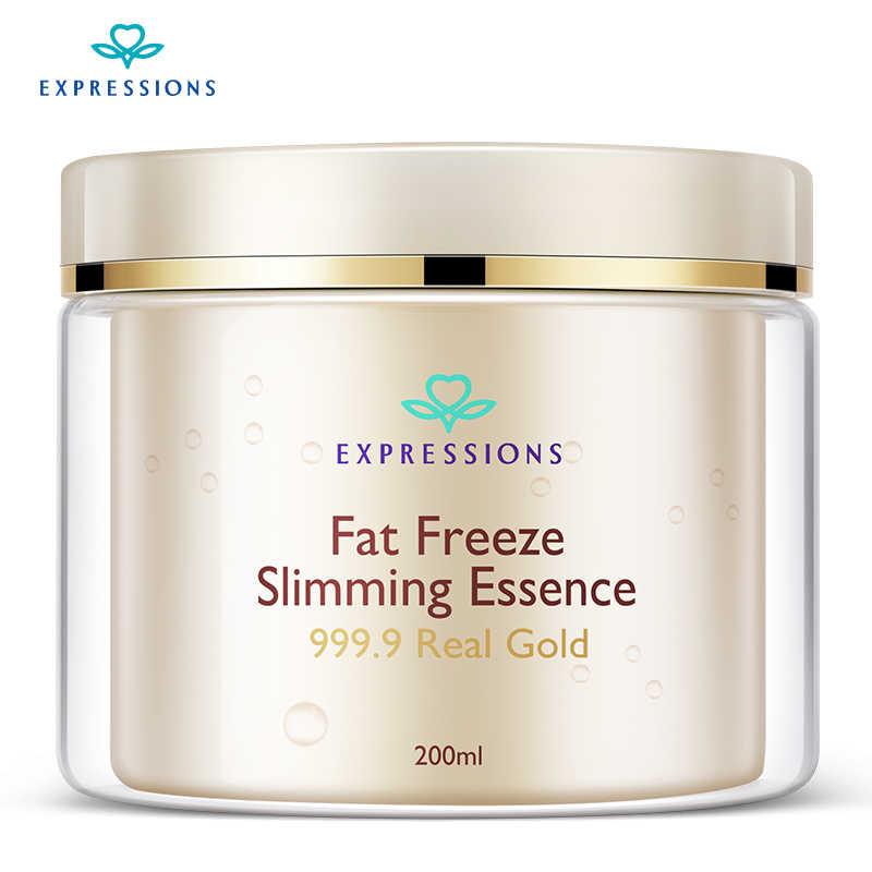 200 мл Fat Freeze похудение сущность 999,9 настоящее золото средства ухода за кожей формирование тонкие ноги кофеин Антицеллюлитный Сжигание жира похудение вес
