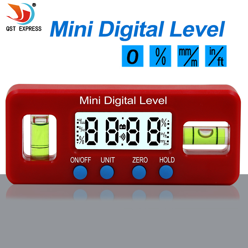 Red Precision Digital Protractor Inclinometer Water Proof Level Box Digital Angle Finder Bevel|Protractors| |  - title=