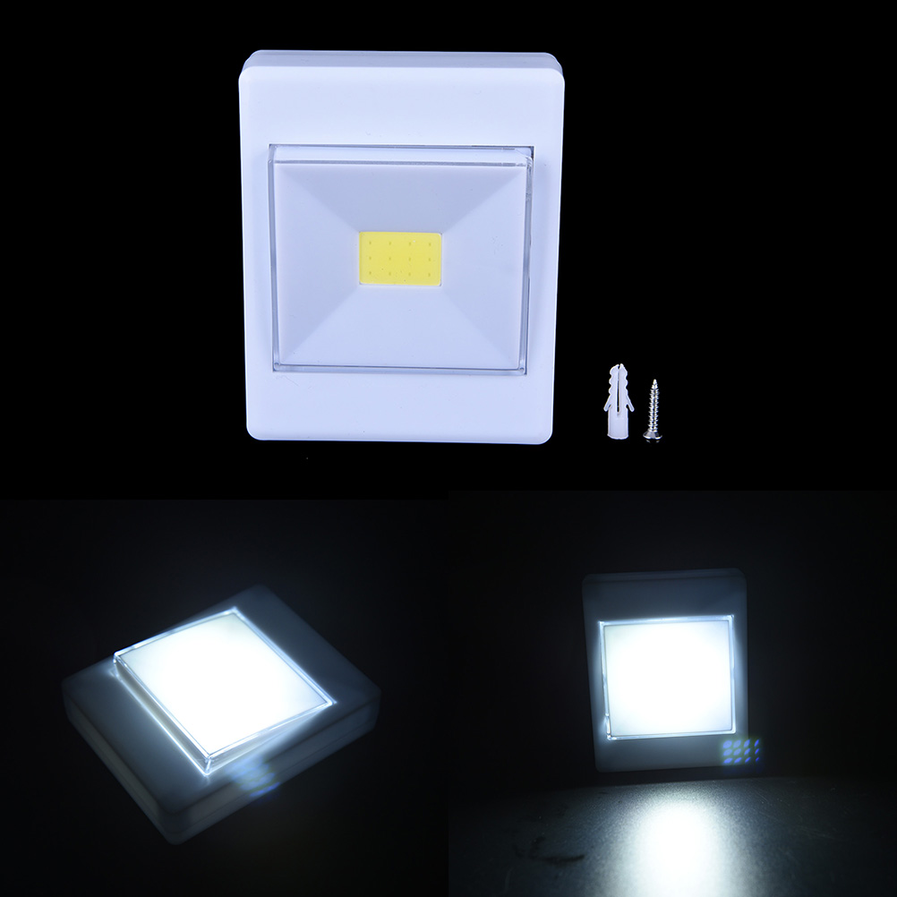 Led Garage Lights Battery: Mini COB LED Cordless Lamp Switch Wall Night Lights