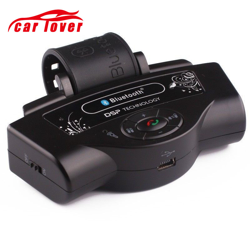 Steering Wheel Hands Free Bluetooth FM Transmitter USB Mp3 Player Car MP3 Player Media Button Car Kit for Iphone Android