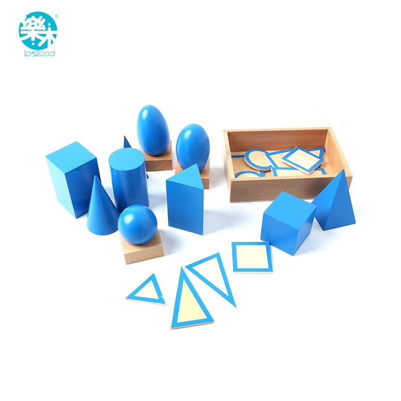 Bébé Jouets Mach jouet solides géométriques montessori Apprentissage Éducatifs montessori cylindre bloc oyuncak montessori sensorielle