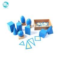 Brinquedos do bebê brinquedo Mach sólidos geométricos montessori montessori Early Learning Educacional bloco de cilindros montessori sensorial oyuncak