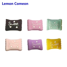 Lemon Comeon 30Pc Sweet Candy Silicone Beads Baby Teeth BPA Free Nursing Chew Toy For DIY Pacifier Pendant Bracelet Bite Chain