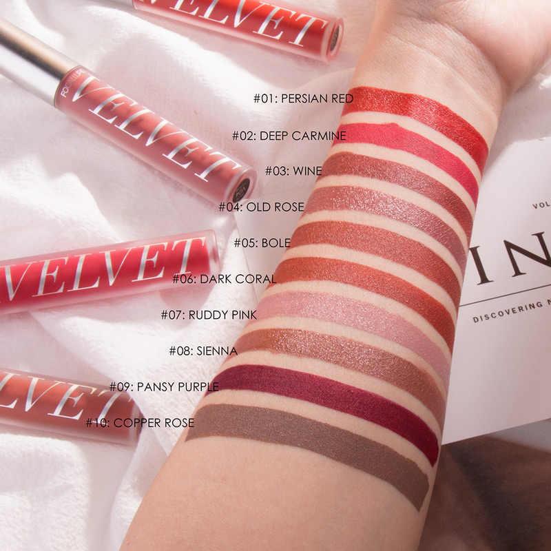 Focallure nouveauté rouge à lèvres liquide avec réparation hydratant Valvet effet naturellement léger et mince lèvres maquillage rouge à lèvres