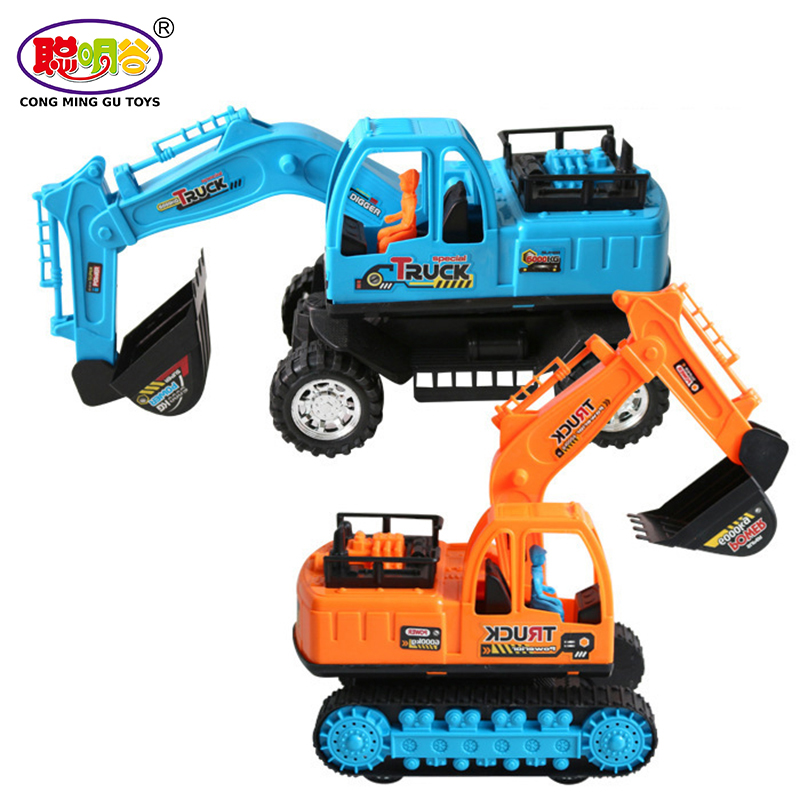 1 Pcs Kids Toys With A Belt Engineering Model Car Diecast Excavator Plastic Gift For Children Boys Truck Assembly Recommend