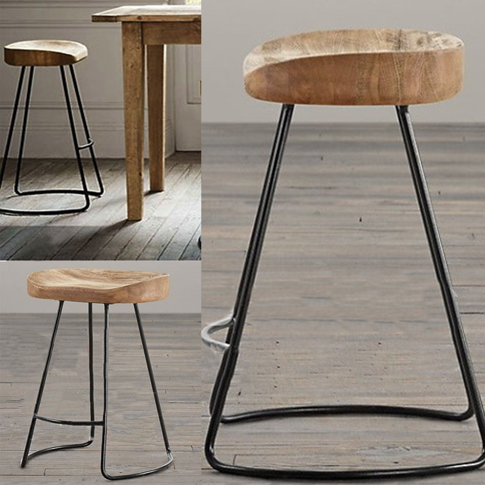 Retro Chair Stool Rocking Chairs For Toddlers The Village Of Furniture Vintage Metal Bar Anti Rust Treatment Commercial Sets 100 Wood In Stools From