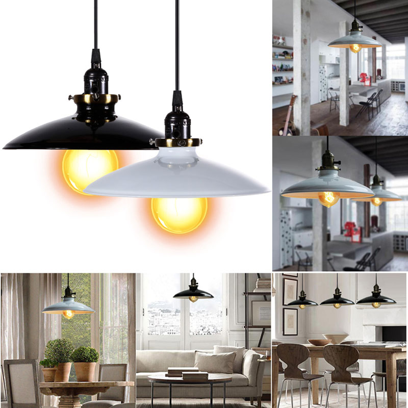 blackwhite iron vintage pendant lamp retro industrial diy pendant lamp ceiling lamp edison light
