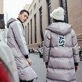 Nuevo 2016 Parejas de Invierno Ropa de Algodón Acolchado Capa de Las Mujeres/Hombres Con Capucha Abrigo Suelta Más Tamaño Outwear la Chaqueta de Los Amantes