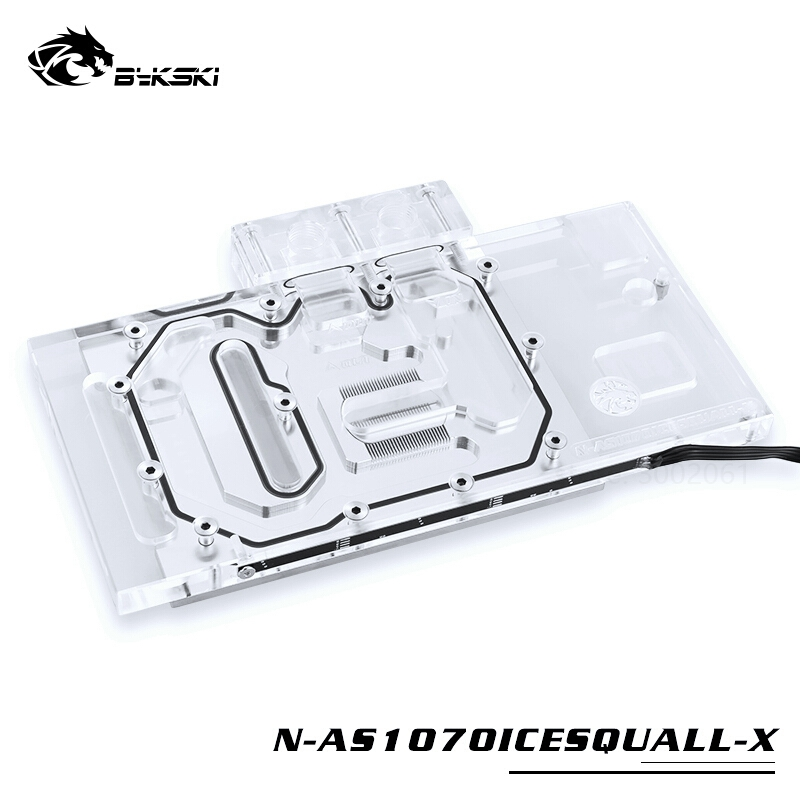 Image 2 - BYKSKI Water Block use for ASUS GTX1070 O8G SI/GAMING /GTX 1060 Dual RGB Light/Full Cover Graphics Card Copper Radiator Block-in Fans & Cooling from Computer & Office