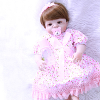 22inch FULL silicone soft body reborn babies dolls bebe alive popular fashion toy kids bathe playmate birthday gift bonecas