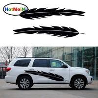 2 X Long Bird Feathers Floating Free Life Art Car Sticker For Camper Van Trailer Truck