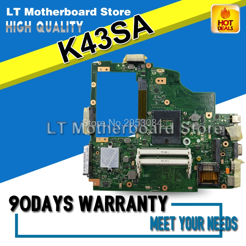 K43SA Motherboard For ASUS A43S X43S K43S A43SA K43SA Laptop motherboard K43SA Mainboard K43SA Motherboard test 100% OK used for asus k43sv k43s k43sj a43s a84s x43s k43sm laptop motherboard rev 4 1 usb3 0 gt540m 2gb mainboard fully tested