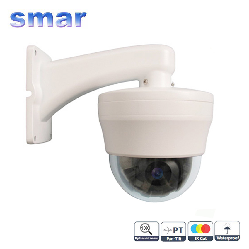 CCTV 480TVL Sony CCD Mini Speed Dome 10 X Optical Zoom PTZ Indoor Surveillance Camera Free Shipping cctv 480tvl sony ccd mini speed dome 10 x optical zoom ptz indoor surveillance camera free shipping