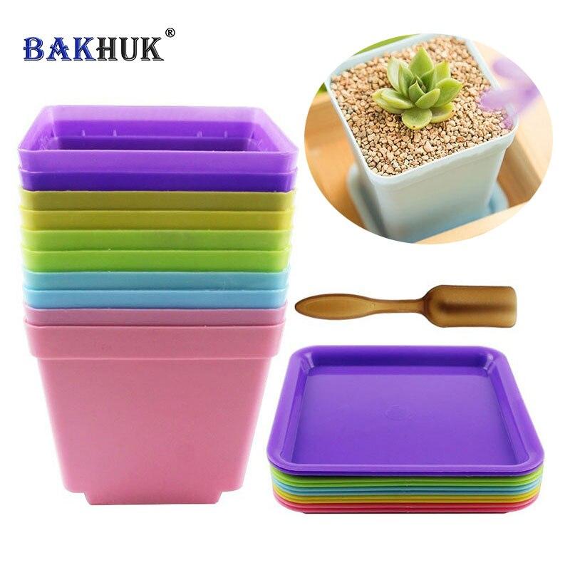 Bakhuk 10 Zestawów 10 Cm Kolorowe Plastikowe Kwadratowe