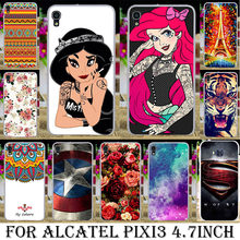 TAOYUNXI Soft TPU Hard Plastic Phone Case For Alcatel OneTouch Idol 3 6039 4.7 inch one touch idol3 6039A 6039K 6039Y Case Cover(China)