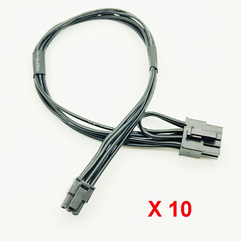 10pcs Mini 6-pin M to 6-pin PCI-E Video Card Power Cable for Apple Power Mac G5