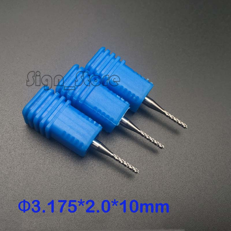 5pcs 2mm*10mm Carbide End Mill Endmill Engraving Bit Rotary Burrs 1/8 Shank CNC pcb pvc Milling Drill Bit Corn Milling Cutter 10pcs box 1 8 inch 0 8 3 17mm pcb engraving cutter rotary cnc end mill 0 8 1 0 1 2 1 4 1 6 1 8 2 0 2 2 2 4 3 17mm