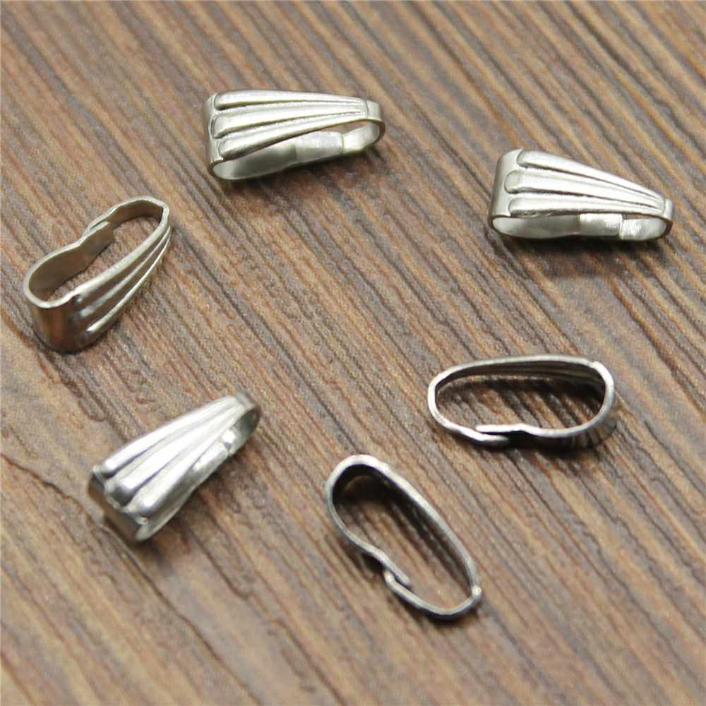 9x4mm 6x3mm Stainless Steel Clasps Pinch Clips Bails Charm Melon Seeds Buckle Pendant Connectors
