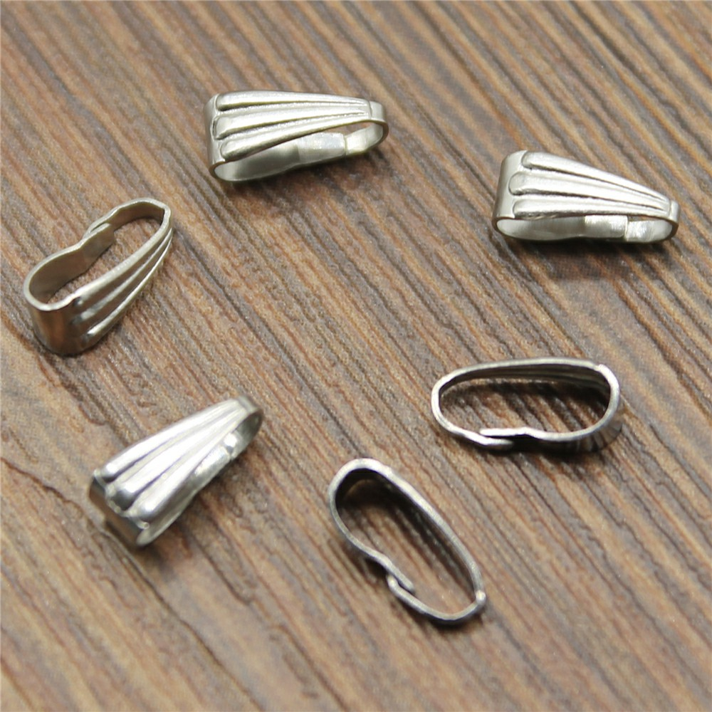 9x4mm 6x3mm Stainless Steel Clasps Pinch Clips Bails Charm Melon Seeds Buckle Pendant Connectors9x4mm 6x3mm Stainless Steel Clasps Pinch Clips Bails Charm Melon Seeds Buckle Pendant Connectors