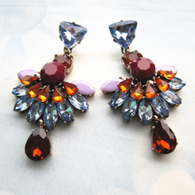2015 High Quality New Fashion Sexy Brief Crystal Earring Jewelry Luxury Statement Earring Latest JC Brand