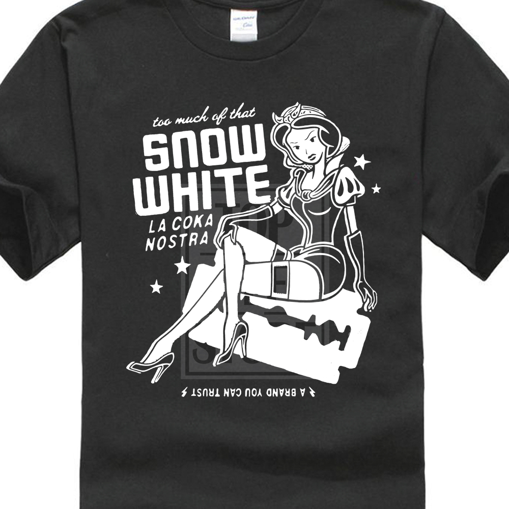 La Coka Nostra hommes blanc neige t-shirt noir