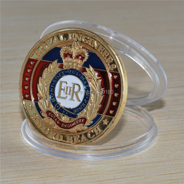 ccbf5f972279d The sample order 1pcs lot Free Shiiping D-DAY - SWORD BEACH GOLD PLATED  COIN+Elizabeth ii commemorative coin