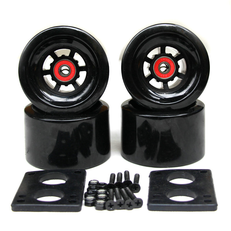 82A Skateboard Wheels 83*52mm largo junta de la ciudad corre 87*52mm ruedas 6mm Riserpad 35 MM pernos ABEC-9 teniendo gran Longboard ruedas - 6