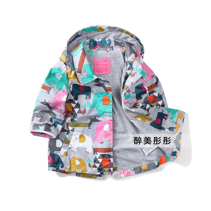 2015 spring autumn girls jackets Children's clothing baby cartoon Trench coat kids clothes cardigan windproof jacket - and retail store