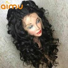 13x6 глубокий часть синтетические волосы свободная волна Синтетические волосы на кружеве парики для чернокожих Для женщин 250% глубоко вьющиеся человеческие волосы парики с детскими волосами отбеленные амину