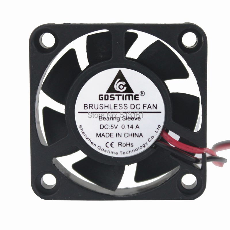 5PCS Gdstime 40mm 5V Dupont 2Pin Mini DC Brushless Cooling Fan 40x10mm 4cm in Fans Cooling from Computer Office