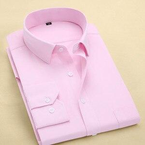 Image 4 - FillenGudd Plus size 8XL Long Sleeve Solid Men Dress Shirts Large 7XL 6XL White Social Shirts Cheap China Imported Men Clothing