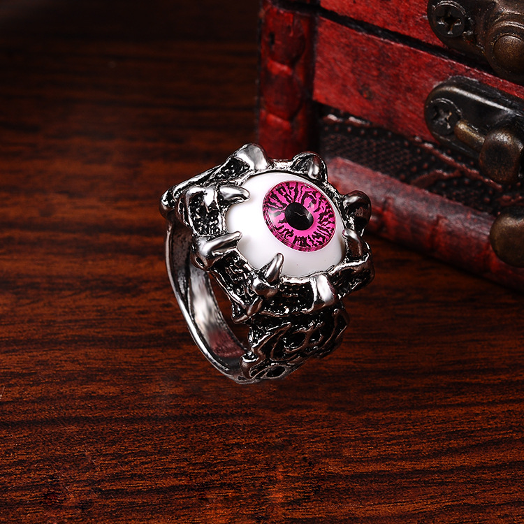 Punk Eyes Claw Biker Gothic Ring Taille 8 8 10 10 11 J026 de femmes - Bijoux fantaisie - Photo 6