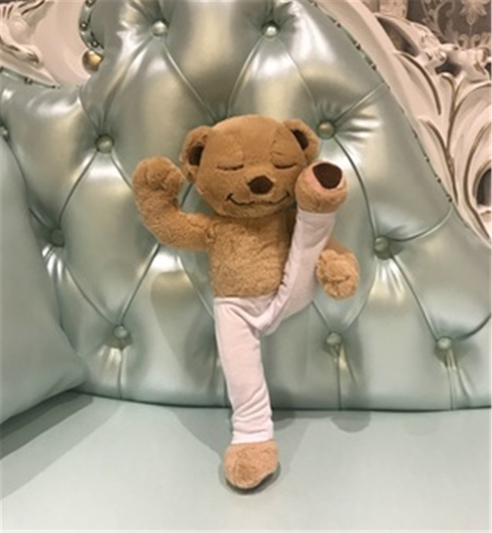cdb747534b ... Fancytrader Yoga Bear Plush Toy Creative Cute American Meddy Teddy  Stuffed Doll Soft Baby Toys Birthday