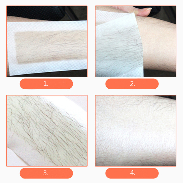 Hair Removal Double Sided Paper Wax Strip for Body and Face