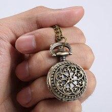 Модные Винтажные женские карманные часы, сплав, Ретро стиль, полые цветы, подвеска, цепочка-ожерелье под свитер, часы для девушек, подарок TT@ 88