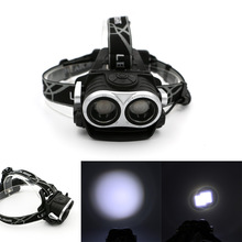 3 Modes Super Bright 2 in 1 bicycle headlamp Fishing Camping Riding Outdoor Lighting Head Lamp LED Headlight With USB Cable