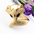 new design Fox new dubai gold alloy big bangles