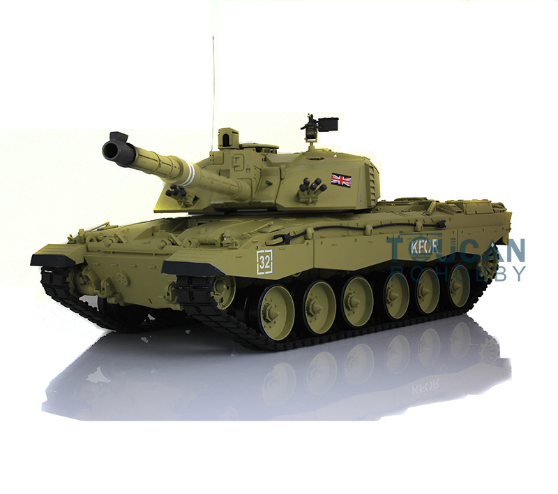 2 4Ghz Henglong 1 16 Scale British Challenger II RTR RC Tank Model Plastic Version 3908