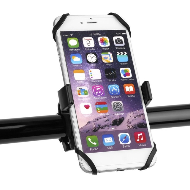 the latest 5932a c0185 US $3.83 19% OFF|Universal Bike Bicycle Motorcycle Handlebar Mount Holder  Mobile Cell Phone Holder With Silicone Support For iphone 6s SmartPhone-in  ...