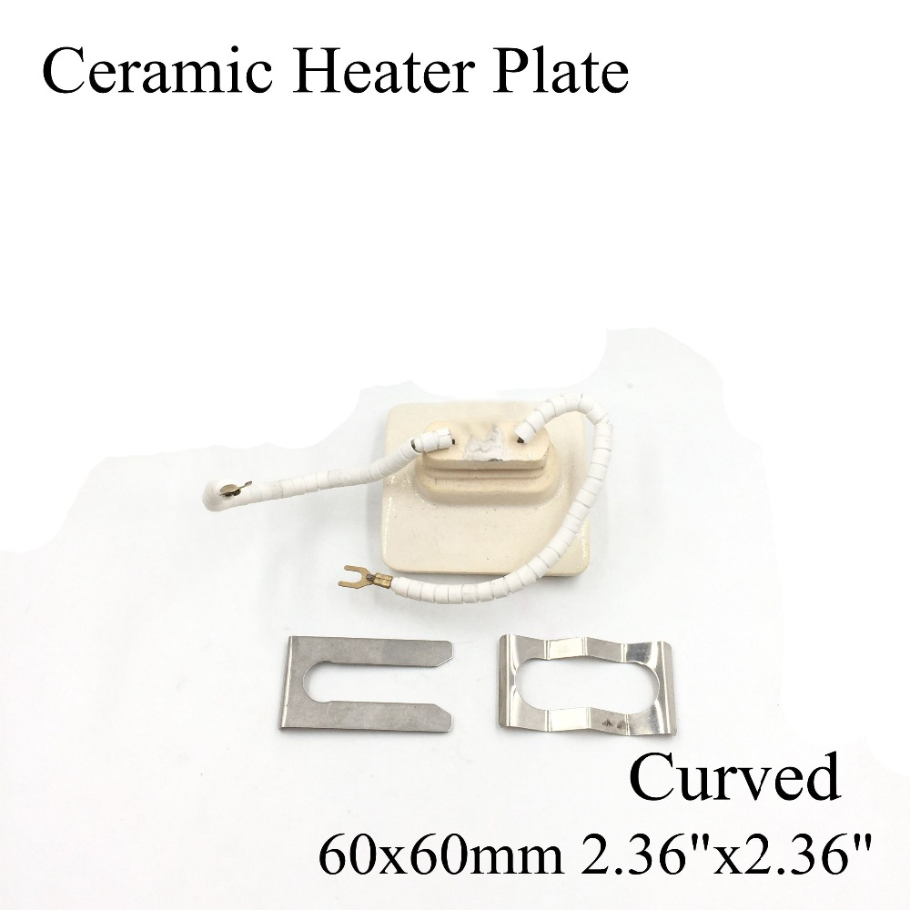 60*60mm Curved Vacuum Injection Molding Machine Repair Far-infrared IR Ceramic Heating Plate Air Ceramic Heater Board Pad BGA