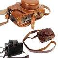 Leather Camera Case Video Bag For Olympus EM10 II  EM-10 II  PU Leather Camera  Retro Vintage Bag take Out Battery Easy