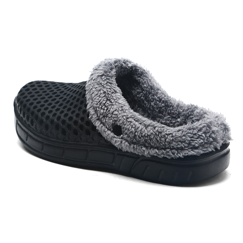 2017 Winter Warm Slippers Women&Men Shoes Indoor Cotton Pantoffels Casual Crocus Clogs With Fur Easy On/Off House Floor Slippers